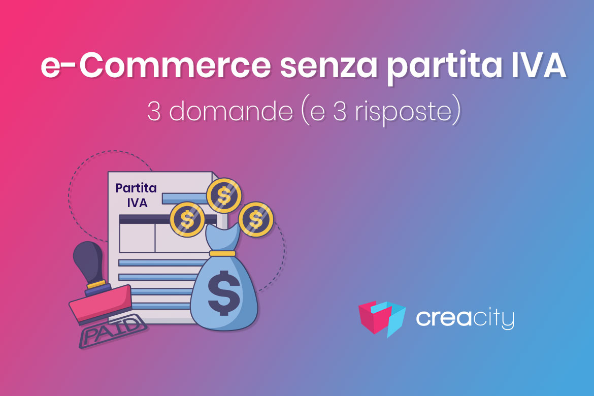 e commerce senza partita IVA