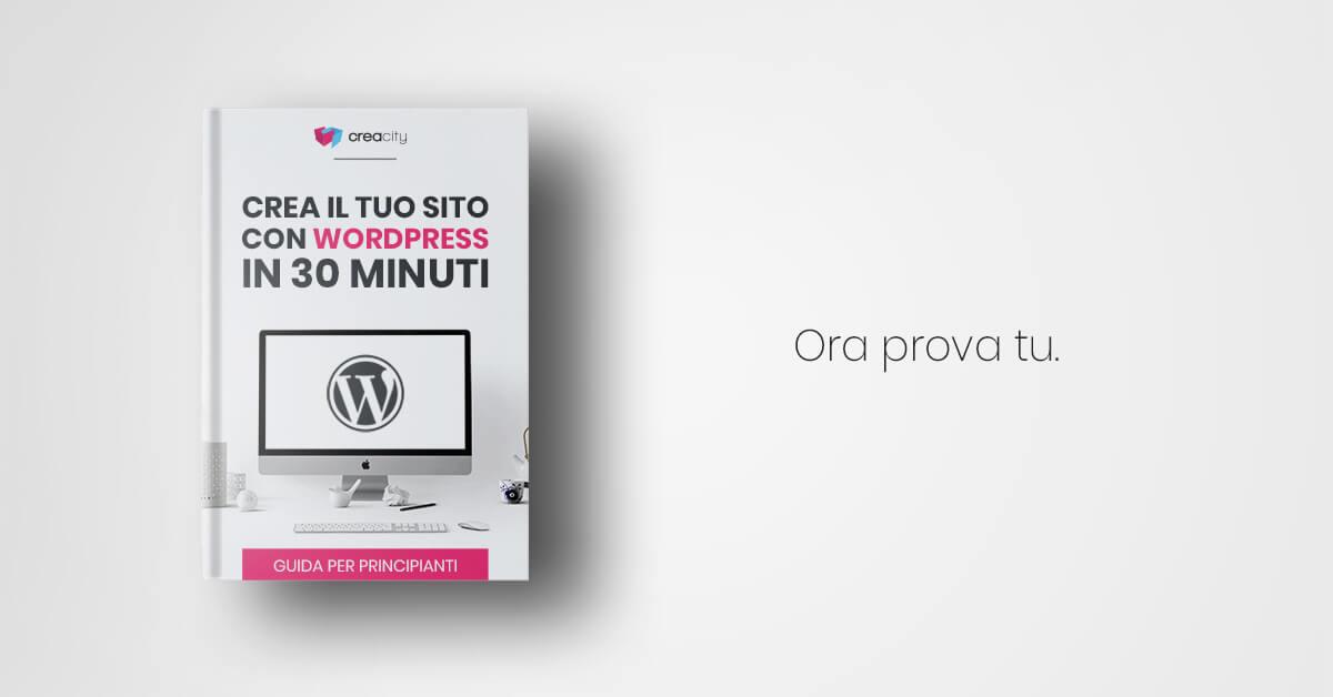 Crea il tuo sito WordPress in 30 minuti