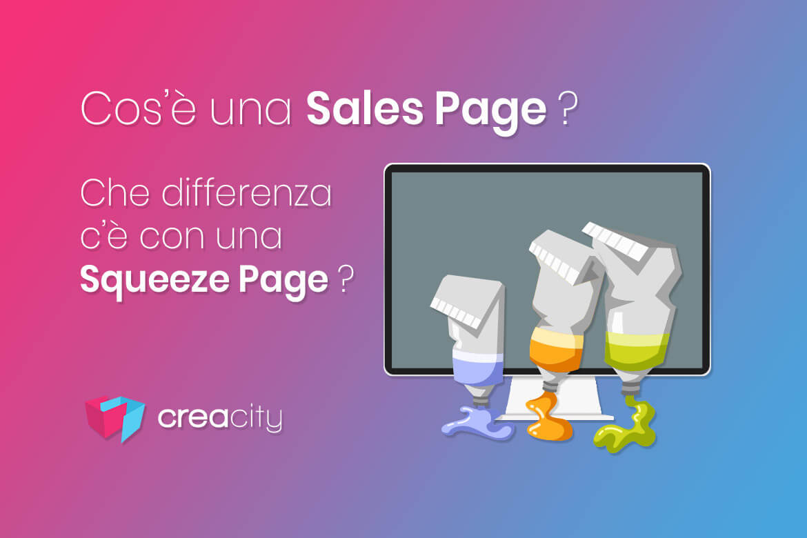Cos'è una sales page. Differenza con una Sqeeze page